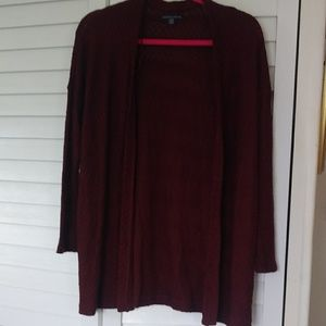 American Eagle Burgundy Cardigan